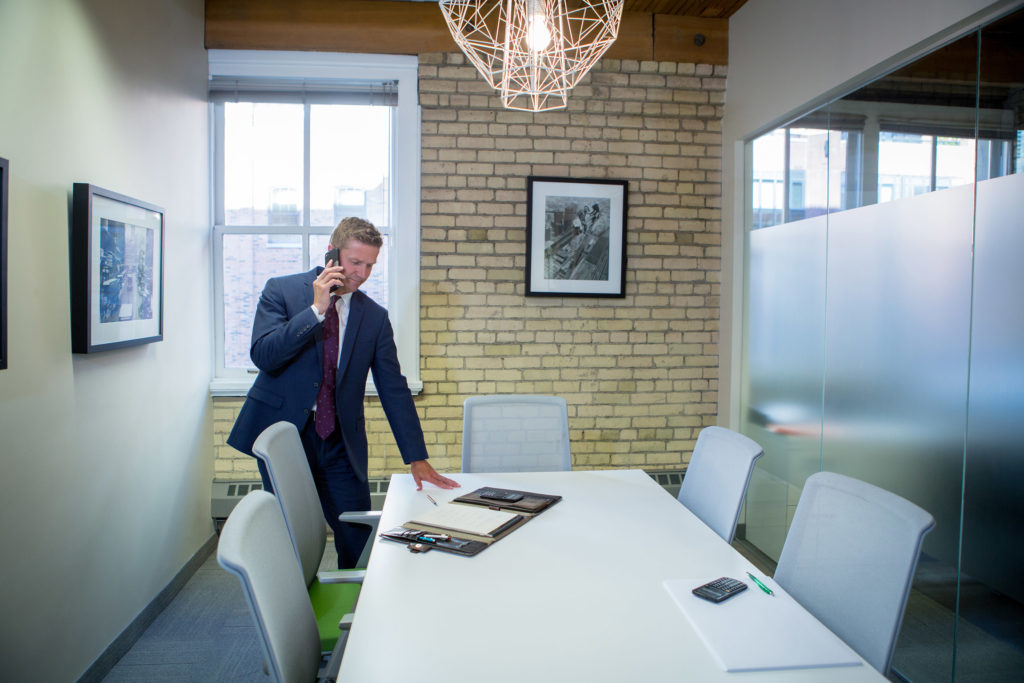 Kurt Rosentreter in a meeting in his downtown Toronto office